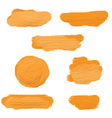 gold acrylic paint smears 2604 vector image vector image
