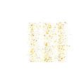 golden glitter confetti on a white background vector image