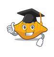 graduation conchiglie pasta character cartoon vector image vector image