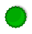 Green bottle cap vector image vector image
