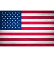 Grunge USA Flag american america symbol vector image vector image