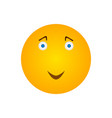happy smiley icon vector image vector image