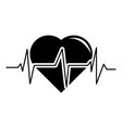 heart pulse icon simple black style vector image vector image