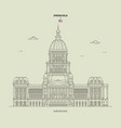 illinois state capitol in springfield usa vector image