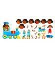 indian girl kindergarten kid animation vector image vector image