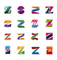 letter z icons for brand company identity vector image vector image