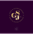 logo s g and j monogram compound circle vector image