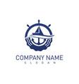 marine concept logo vector image vector image