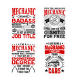 mechanic quote and saying set good for print vector image vector image