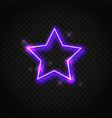 neon purple star frame with space for text vector image