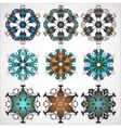 ornamental Mandala set Round pattern vector image vector image