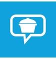 Pan message icon vector image vector image