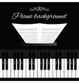 Piano keyboard background vector image