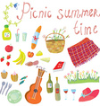 Picnic objects for romantic summer date