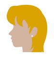 profile head blonde woman human female avatar vector image