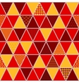 Red and yellow patterned triangles geometric vector image vector image