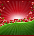 red cranberry border vector image vector image