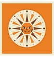 Retro style cartoon sun vector image vector image