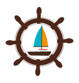 sailboat summer isolated icon vector image vector image