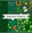saint patricks day seamless pattern set of vector image