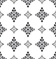 seamless diamond patterned gray and black vector image vector image