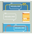 Set color lines with conversational bubble vector image vector image