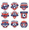 set soccer football emblems design element vector image vector image