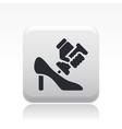 shoe repair icon vector image vector image