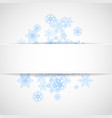 snowflakes frame on white paper background vector image