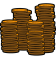 stacks coins vector image vector image