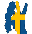 Swedish finger signal vector image vector image