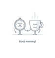 Tea time morning cup of coffee vector image vector image