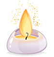 Tealight candle over white background vector image vector image