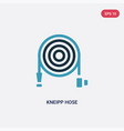 two color kneipp hose icon from sauna concept vector image vector image