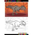 tyrannosaurus rex dinosaur for coloring vector image vector image