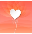 Valentines Day Heart Balloons on pink background vector image vector image