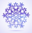 Watercolor blue painted Christmas snowflake vector image vector image