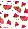 watermelon parts food slices of red summer vector image vector image