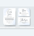 wedding invite thank you rsvp card design set vector image