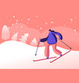 winter sports activity and sparetime young woman vector image vector image