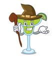 witch margarita mascot cartoon style vector image vector image
