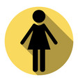 woman sign flat black icon vector image