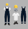 work wear and uniform set isolated vector image