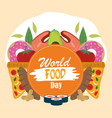 world food day healthy lifestyle products vector image vector image