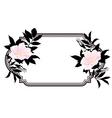 vintage roses oval frame vector image