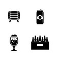 beer simple related icons vector image