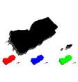 3d map of yemen vector image