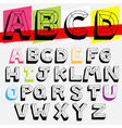 abc 3d vector image