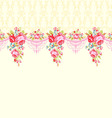 Abstract background with roses Seamless border vector image vector image