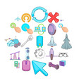 advanced technologies icons set cartoon style vector image vector image